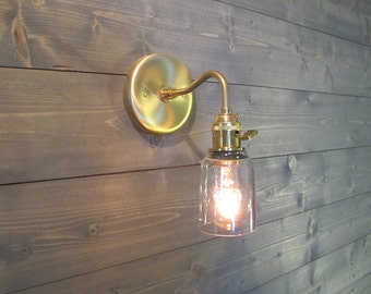 Modelo Beer Bottle Recycled Wall Sconce - Short Clear - Upcycled Industrial Glass Wall Mount Light
