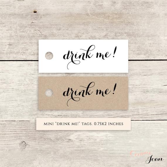 Wedding Gift Tags Nz : drink me! printable favor tags, printable wedding label favour tags ...