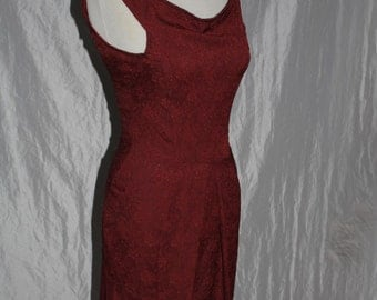 Red Leafs dress - sleeveless - Gr. 36/38 - narrow