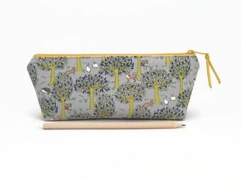 Cute pencil case, Forest animals, Pencil pouch,  Cute school supplies, Pencil case, Woodland creatures, Student gift, Cute desk accessory
