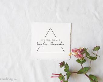 Triangle logo, Logo design, Blogger logo, Custom logo, Photography logo, Premade logo, Logo design branding, Business logo, Feminine logo