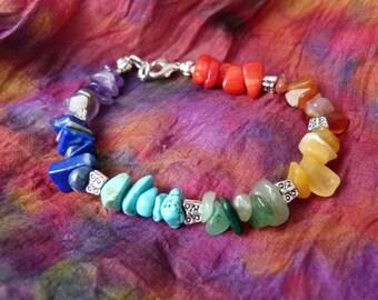 Butterfly Bracelet, Chakra Bracelet, 7 Chakra Bracelet, Chakra Necklace, Chakra Jewelry, Gemstone Bracelet, Energy Bracelet, Mala Beads