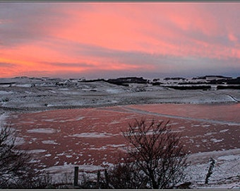 Aubrac panoramic winter - 1 of 30 copies - limited edition