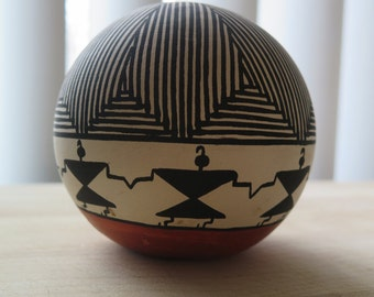 Acoma Pottery Vessel and Seed Pod