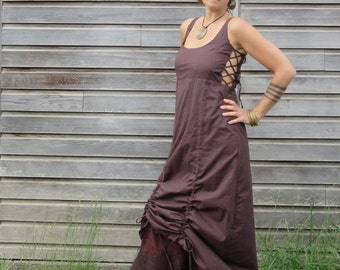 Avalon dress ~ Festival ~ Elven ~ Gypsy ~Maxi corset dress ~ Steampunk clothing ~ Full length ~  Pagan ~ Goddess dress