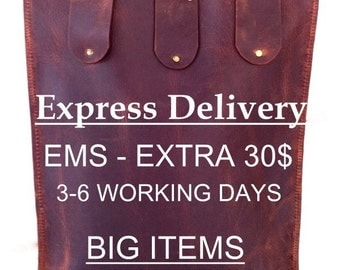 Upgrade your shipping to get your package sooner. Express delivery, express shipping. This extra cost refers to big items such as bags.