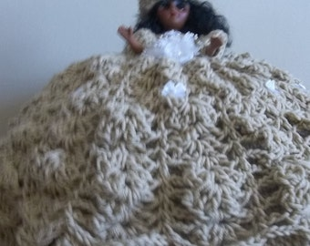 Crocheted Doll  Pillow