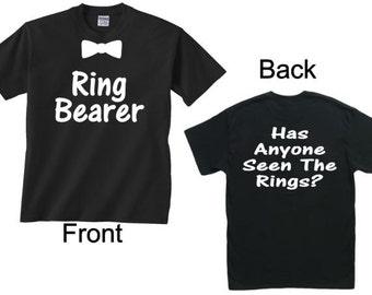 Ring bearer shirt/Front and back/Ringbearer shirt/ Wedding party shirt/Ring security shirt/Ring boy shirt/Youth shirt