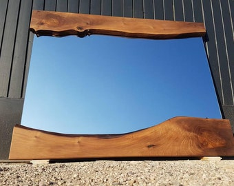 Modern Wall Mirror - Wooden Live Edge Mirror