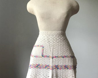 Vintage Pastel Crochet Apron