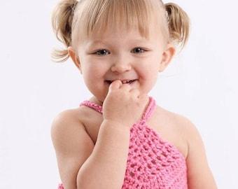 Cotton crochet halter top for Baby Toddler girl