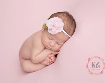 Baby Flower Headband, Newborn Headband, Baby Girl Headband, Girls Headbands, Newborn Girl, Pink Baby Headband, Baby Headband, Girls