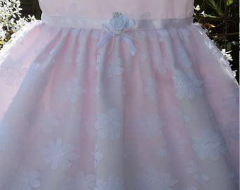 White Daisy Lace Baby Dress / Christening Dress