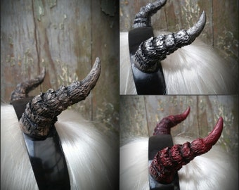 Dragon horns headband in desired color