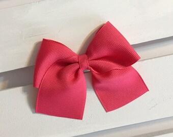 Dark pink hair bow, pink hair bow, clip in hair bow, clip in bows, hair bow, hairbows, hair bows, cheer bows, baby bows, girl hair bows