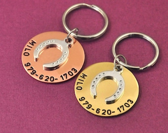 Custom Horse Tag Personalized ID Engraving Name And Phone Numbers Pet Tag Pet Accessories 2 Colors Horse ID Tag