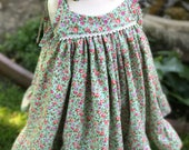 Boho baby dress - boho toddler dress - little girls dress - London dress - summer dress - twirl dress - Girls floral dress - girls dresses