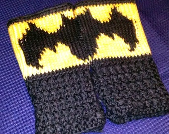 Fingerless Gloves Wrist Warmers Batman Adult Sizes
