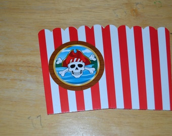 24 pirate mini popcorn boxespirate popcorn