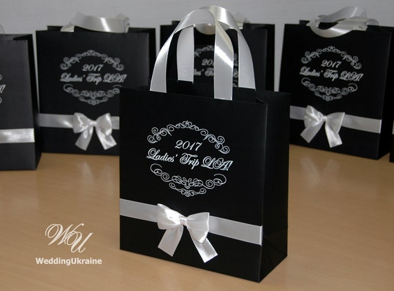20 Elegant Gift Bags With Satin Ribbon Handles Custom