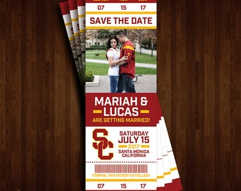 University of Southern California, USC Trojans Save the Date Ticket