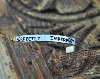 Perfectly Imperfect jewelry  // adorned // Christian jewery // Gift for her // adjustible bracelet // adorned shop // adorned jewelry