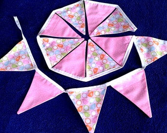 Pretty Little Chickies bunting, for nursery, bedroom or Easter decorations