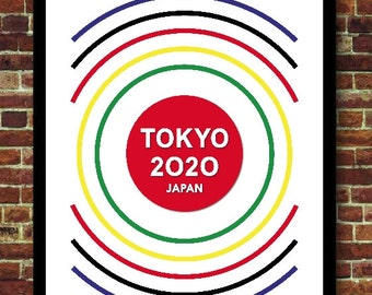 Japan Tokyo 2020 Sports Decoration Poster