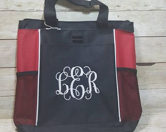 Monogrammed Tote Bag, Teacher Bag, Teacher Gift, Personalized Tote Bag, Bridesmaid Gift