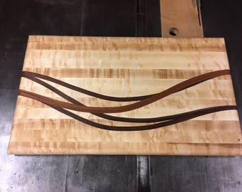 Birdseye Maple Cutting Board Inlay - MASTER CHEF