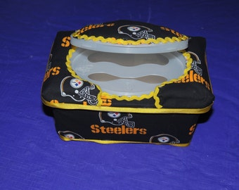 Large Pittsburgh Steelers Baby Wipe Case