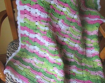 Spring baby girl blanket