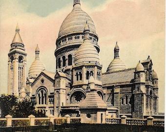 Paris, France, L'Eglise du Sacre - Coeur. Antique Circa 1910 Unused Color Postcard, Published by Lucien Levy, Card #1193