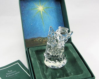 Beautiful MARQUS WATERFORD # 10036 Lead Crystal Angel  with Lyre. The Angel was made in Germany  is Acid Etched Waterford, and has Label.