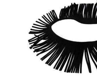 2 m braid bangs in Black Suede