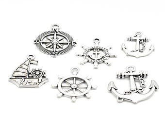 38 different charms anchor boat models 6