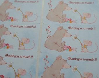 Thank you stickers - 24 pcs