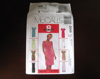 Misses' Dresses - 8 Great Looks 1 Easy Pattern – McCall's 2049 Sewing Pattern – Size AX (4, 6, 8)