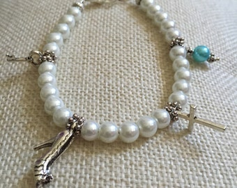 Old, New, Borrowed, and Blue wedding bracelet, bridal