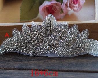 1pc Crystal Bling Applique Trim Brides Wedding Belt Flower Dress Gothic Burlesque Corset Handmade Accessory YL481