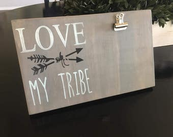 Frame,Love my tribe,Tribe,Gift,Personalized gift,My Tribe,Picture Frame,Rustic Picture frame,Gifts Under 20