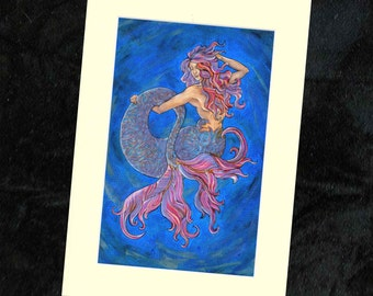 Mermaid Mounted Print