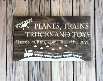 Planes trains trucks and toys theres nothing quite like little boys