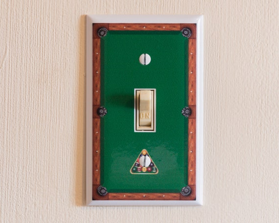 Pool Table Switch Plate Wall Plate Cover Billiards