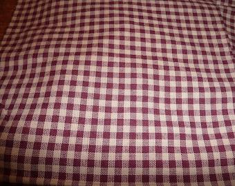 5 Homespun Cotton Plaid Prints Yardages