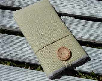 Linen iphone pouch, iPhone 6 cover, Fabric iPhone 7 Case, iPhone SE case, iPhone 7 sleeve, iPod Sleeve, Foam Padded , iPhone 7 Plus sleeve