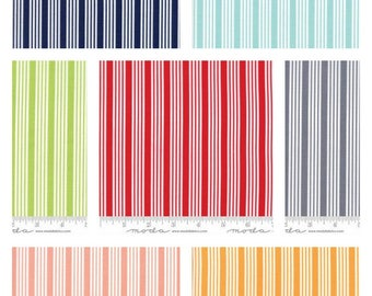 PRE ORDER Fat Quarter bundle of The Good Life Stripe by Bonnie and Camille for Moda 55157