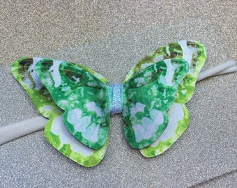 Butterfly headband lime and green