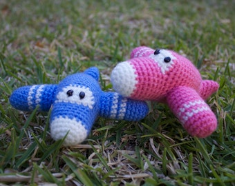 READY TO SHIP: Crochet Aeroplane/ Amigurumi Plane/ Plush Toy/ Stuffed Toy / Soft Toy/ Photo prop