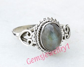 925 sterling silver Labradorite ring, Statement Ring, Labradorite Stone Ring US Size 5 6 7 8 9 10 11 12